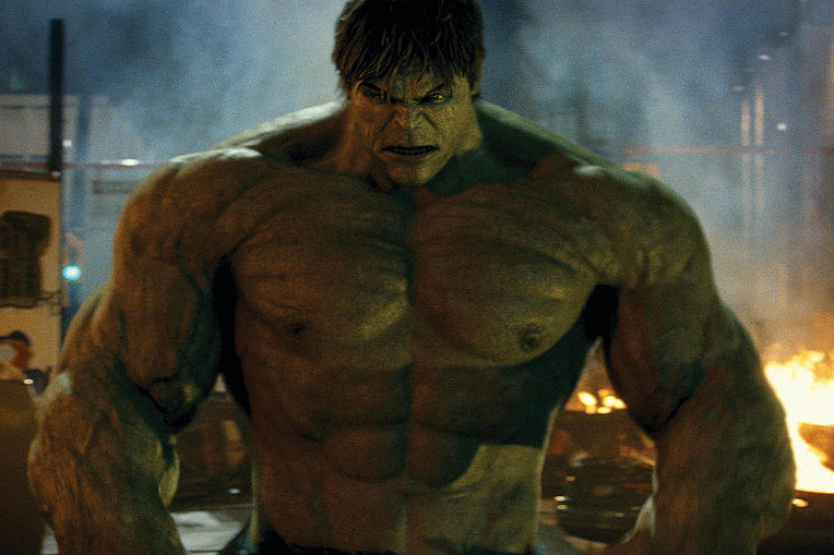 Edward Norton's version of the Hulk in The Incredible Hulk (Marvel, Universal, HF)