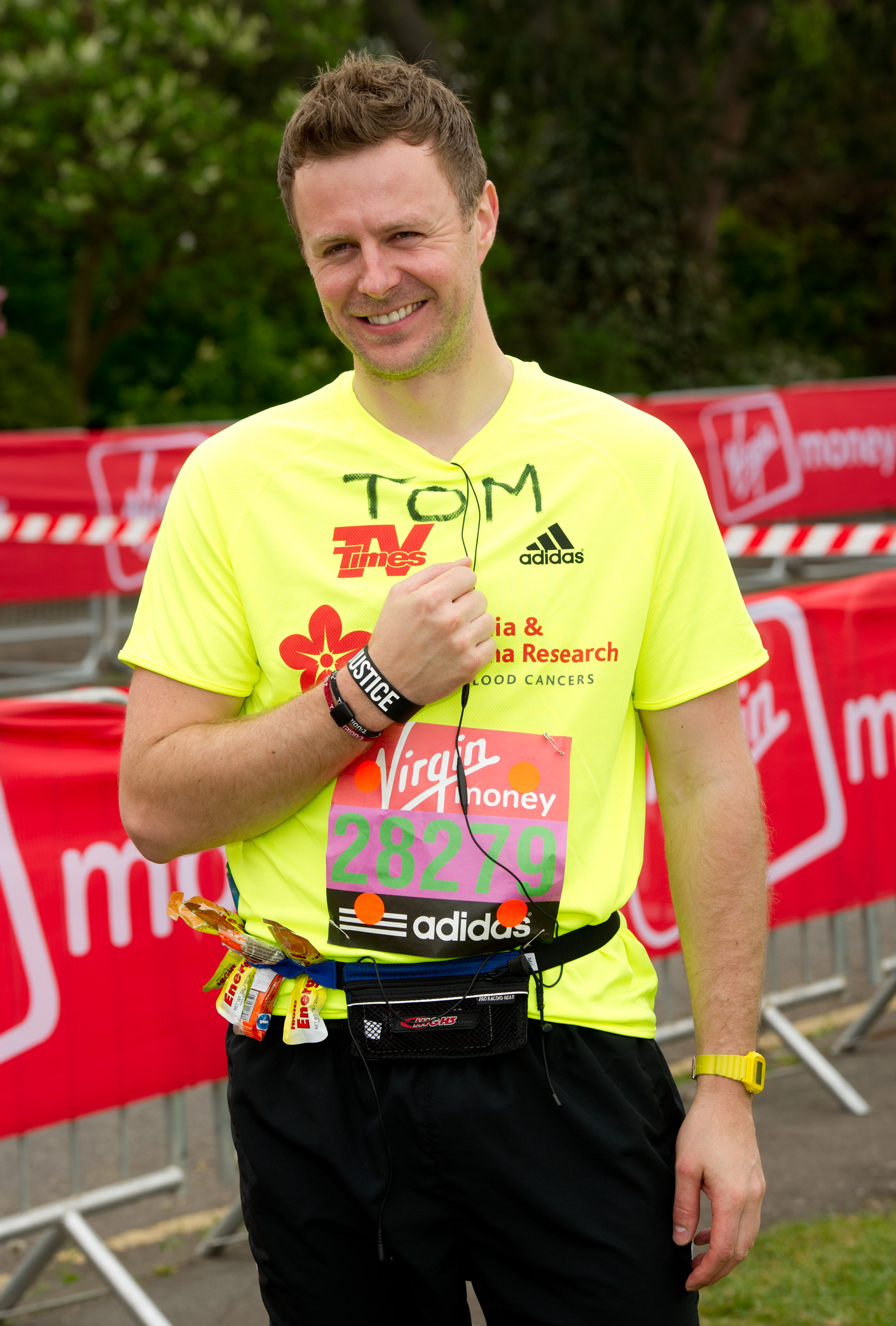 LONDON, ENGLAND - APRIL 17: Tom Lister attends the celebrity start of the 2011 Virgin London Marathon at Blackheath on April 17, 2011 in London, England. (Photo by Ian Gavan/Getty Images)