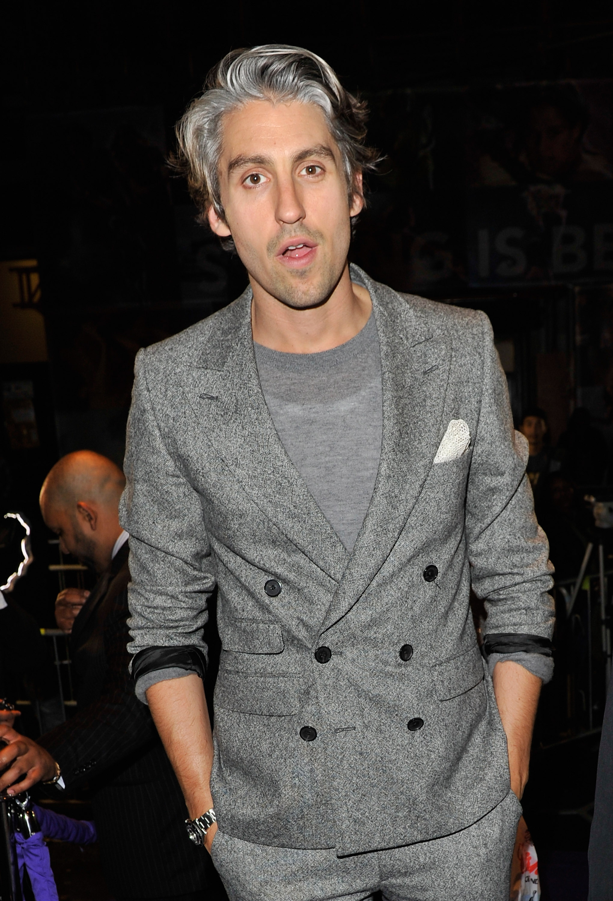LONDON, ENGLAND - JUNE 16: George Lamb arrives at the WTA Tour Pre-Wimbledon Party at The Roof Gardens, Kensington on June 16, 2011 in London, England. (Photo by Gareth Cattermole/Getty Images for WTA)