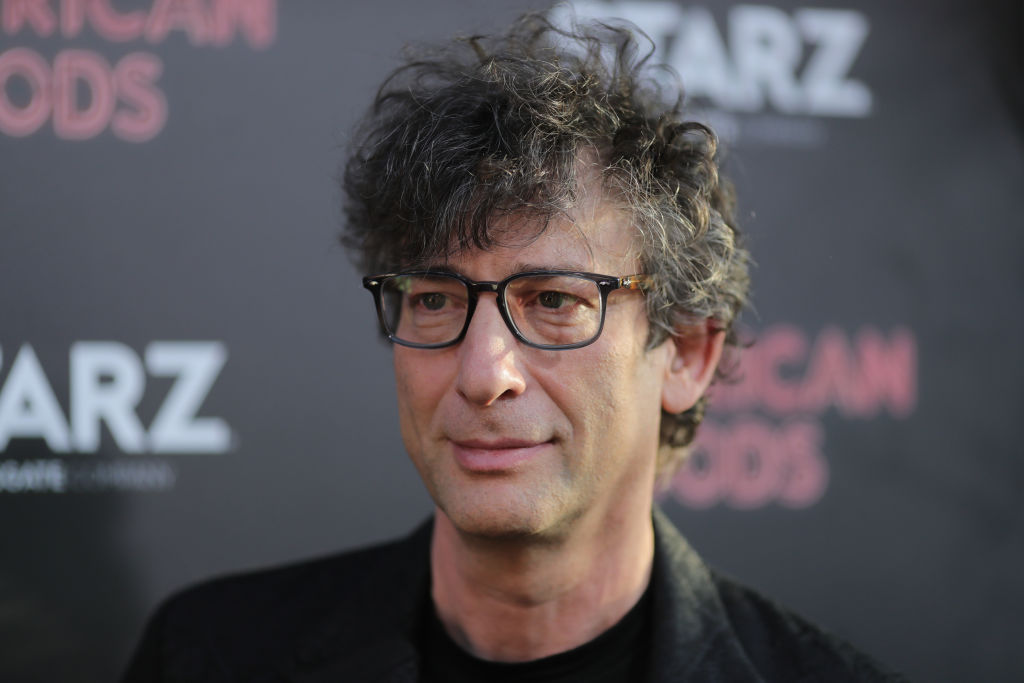 Neil Gaiman at the launch of American Gods (Getty, JG)