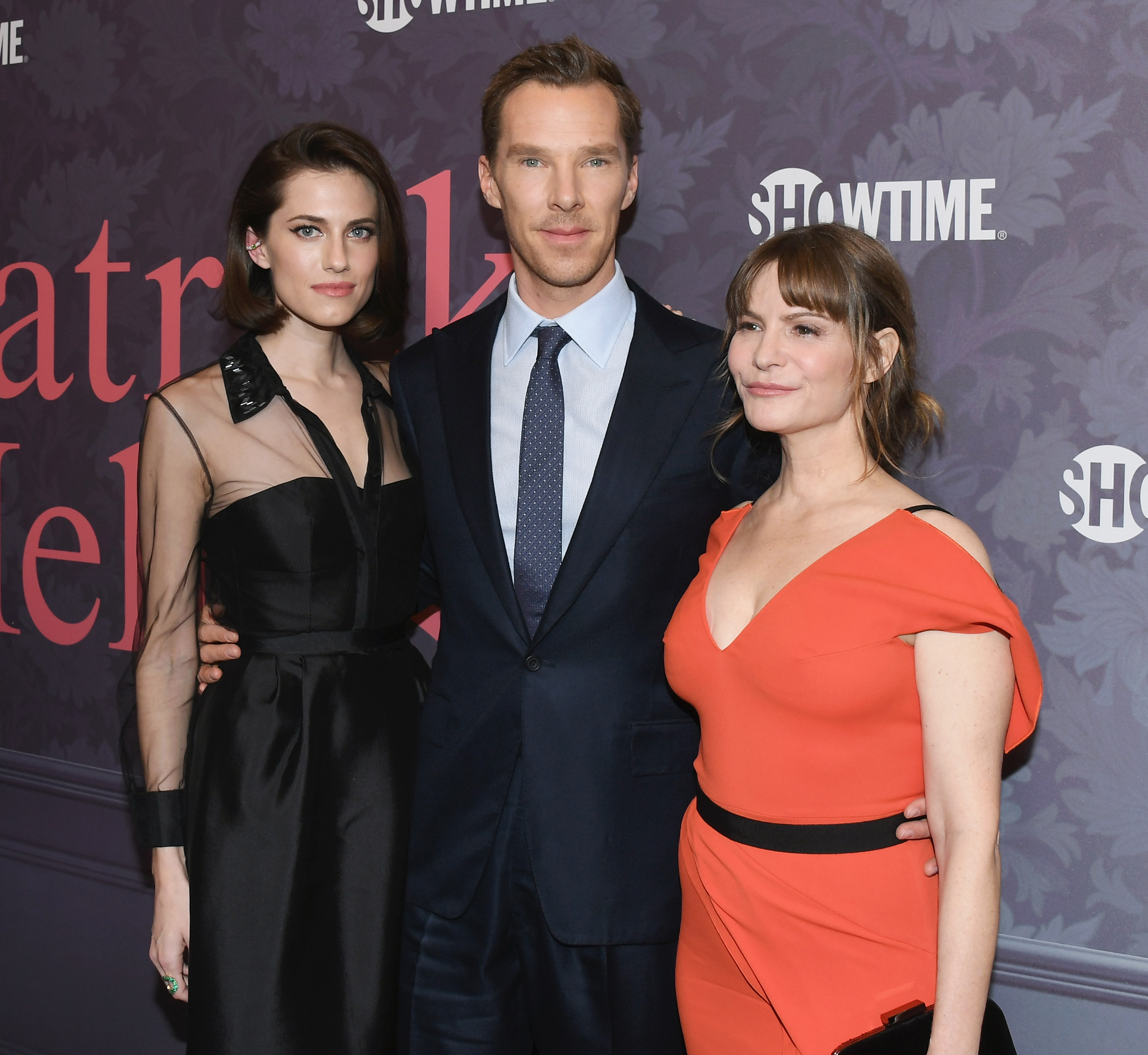 "Allison Williams, Benedict Cumberbatch and Jennifer Jason Leigh attend the premiere of Showtime's ""Patrick Melrose"" (Getty/FC)"