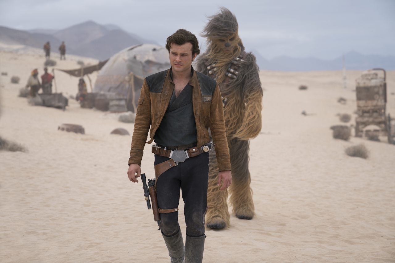 Alden Ehrenreich is Han Solo and Joonas Suotamo is Chewbacca in SOLO: A STAR WARS STORY (LucasFilm, JG)