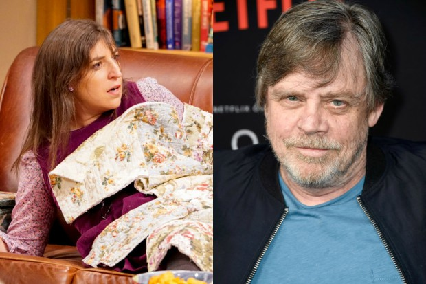 Miayim Balik in The Big Bang Theory and Mark Hamill (Getty, HF)