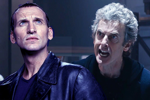 Christopher Eccleston and Peter Capaldi in Doctor Who