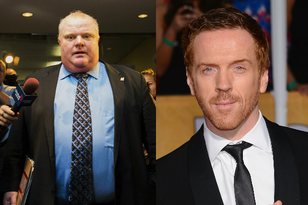 Rob Ford and Damian Lewis