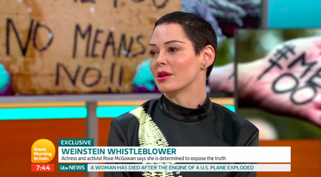 Rose McGowan on Good Morning Britain