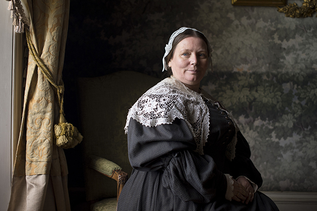 The Woman in White - Joanna Scanlan plays servant Mrs Vesey