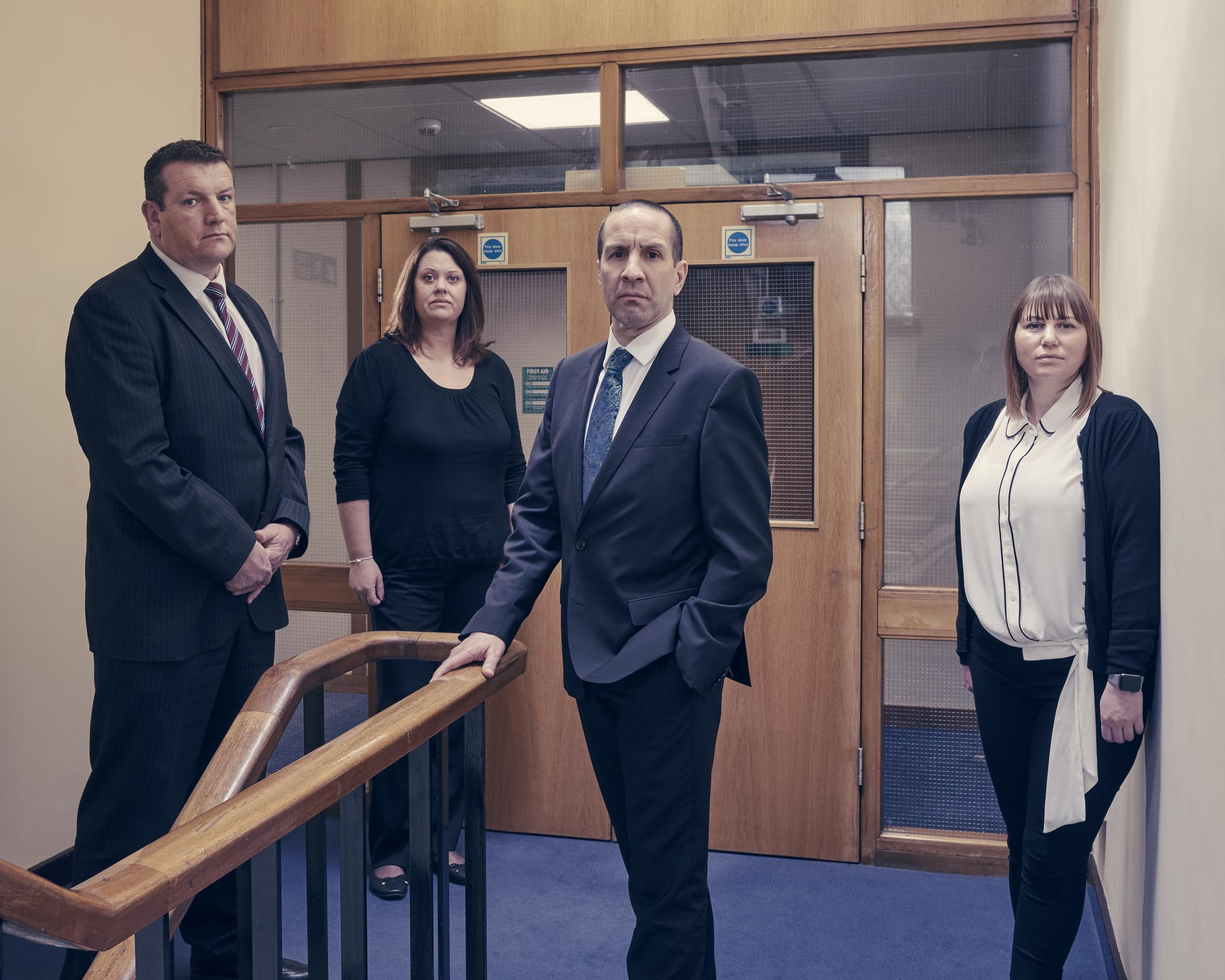 Deputy Stuart Blaik, Natalie Howard- Family Liaison Officer, Senior Investigating Officer Andy Shearwood and Steph Mason- Family Liaison Officer (Channel 4 images)
