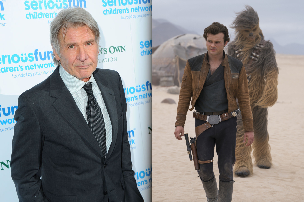 Harrison Ford and Alden Ehrenreich (Getty, LucasFilm, HF)