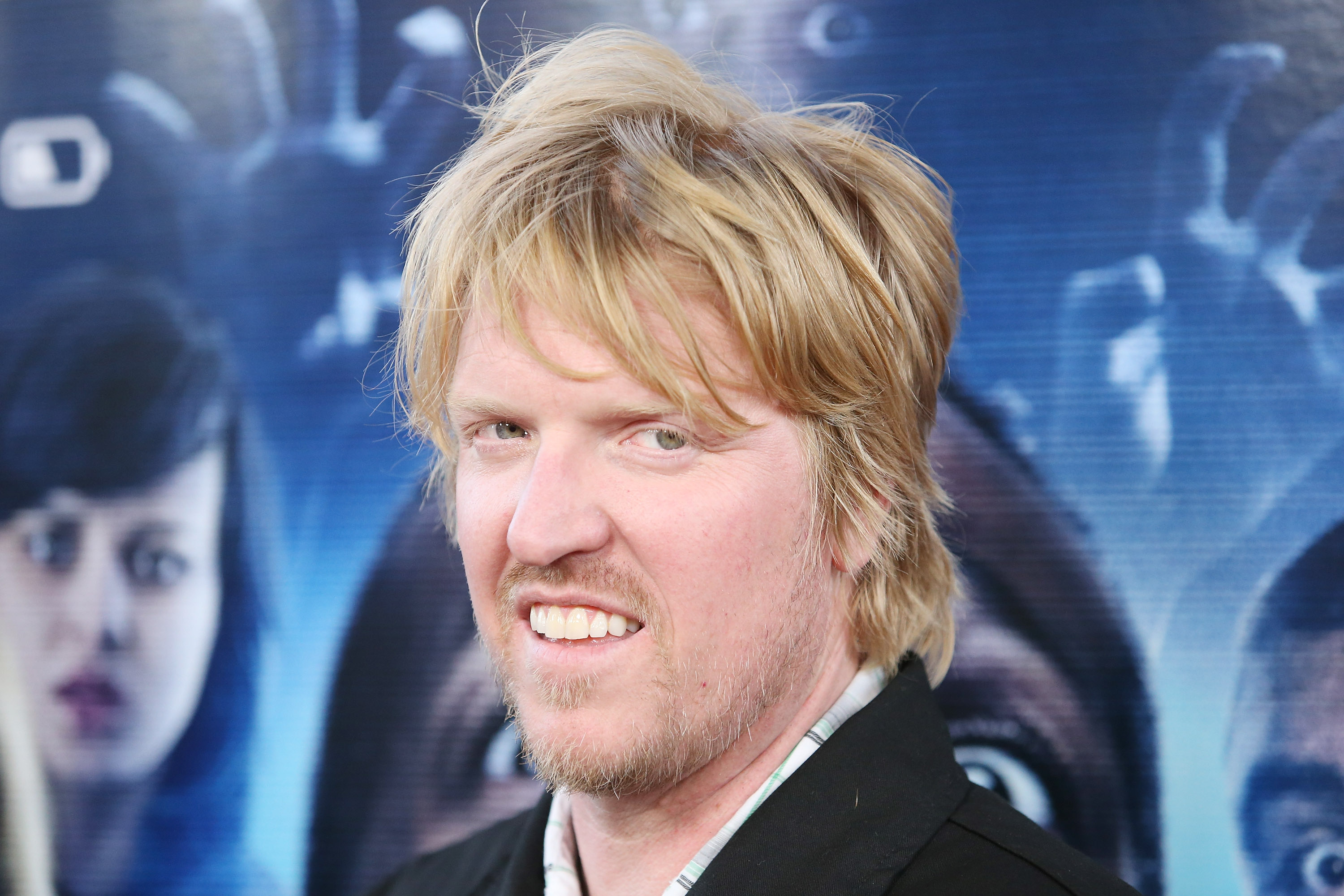"""LOS ANGELES, CA - APRIL 16: Jake Busey arrives at the Los Angeles premiere of """"A Haunted House 2"""" held at Regal Cinemas L.A. Live on April 16, 2014 in Los Angeles, California. (Photo by Michael Tran/FilmMagic)"""
