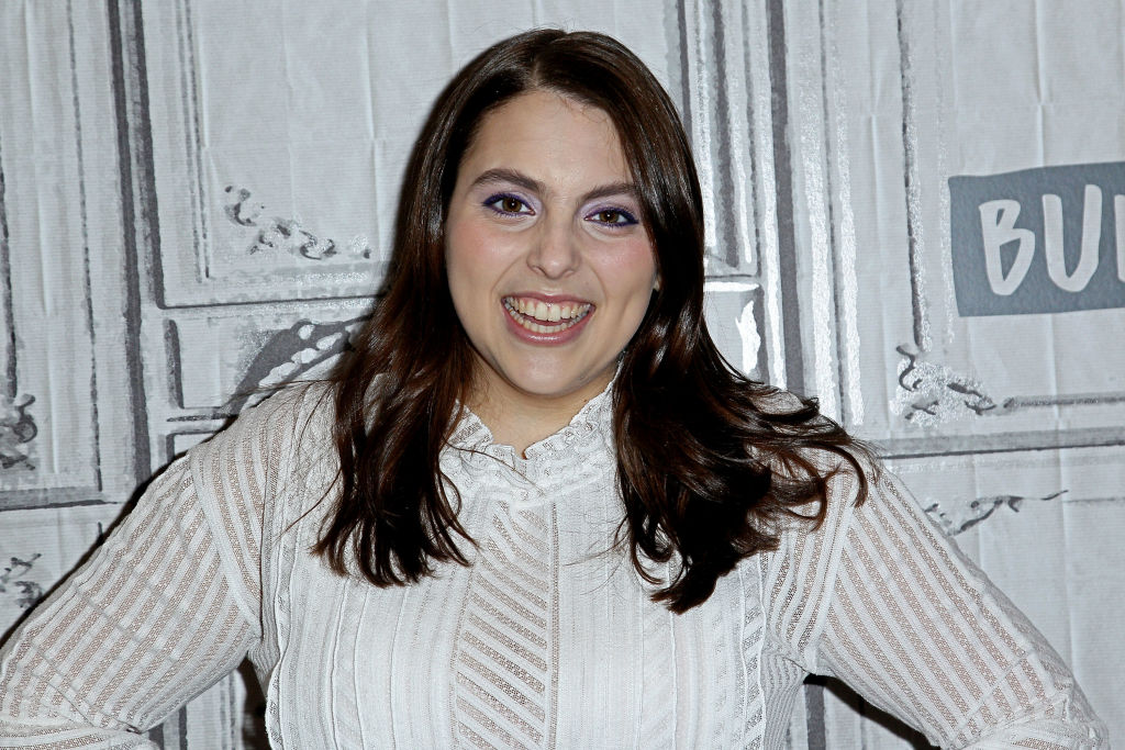 "NEW YORK, NY - DECEMBER 07:  Build presents Beanie Feldstein discussing ""Lady Bird"" at Build Studio on December 7, 2017 in New York City.  (Photo by Steve Mack/WireImage)"