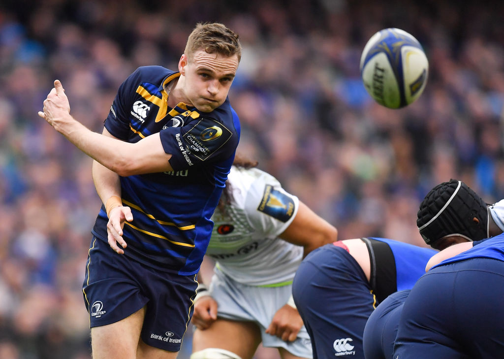 Dublin , Ireland - 1 April 2018; Nick McCarthy of Leinster during the European Rugby Champions Cup quarter-final match between Leinster and Saracens at the Aviva Stadium in Dublin. (Photo By Brendan Moran/Sportsfile via Getty Images)