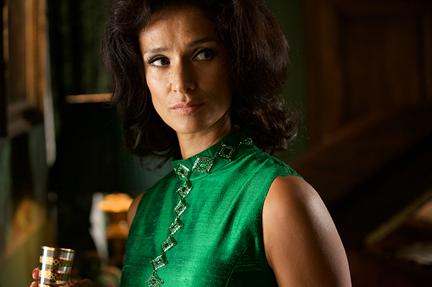 Indira Varma plays Anne Moore in Patrick Melrose