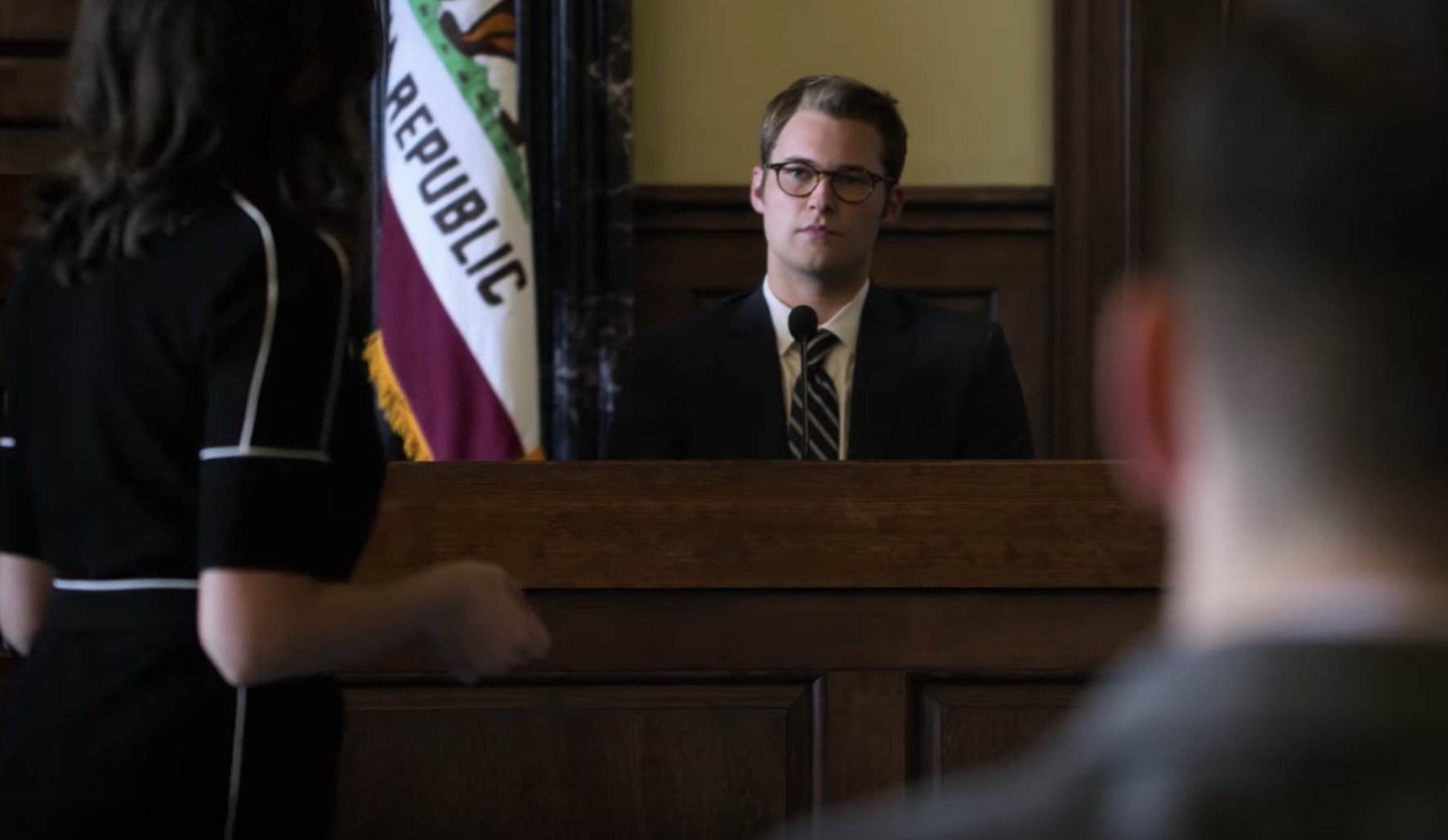 Bryce (Justin Prentice) in the dock in 13 Reasons Why season two's new trailer (Netflix)