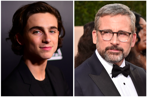 Timothée Chalamet, Steve Carell (Getty, EH)