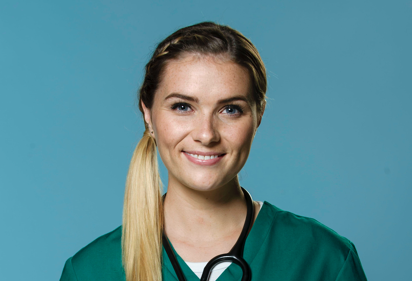 Chelsea Halfpenny as Alicia Monroe on Casualty
