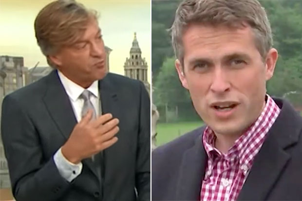 Richard Madeley and Gavin Williamson, ITV Player, SL