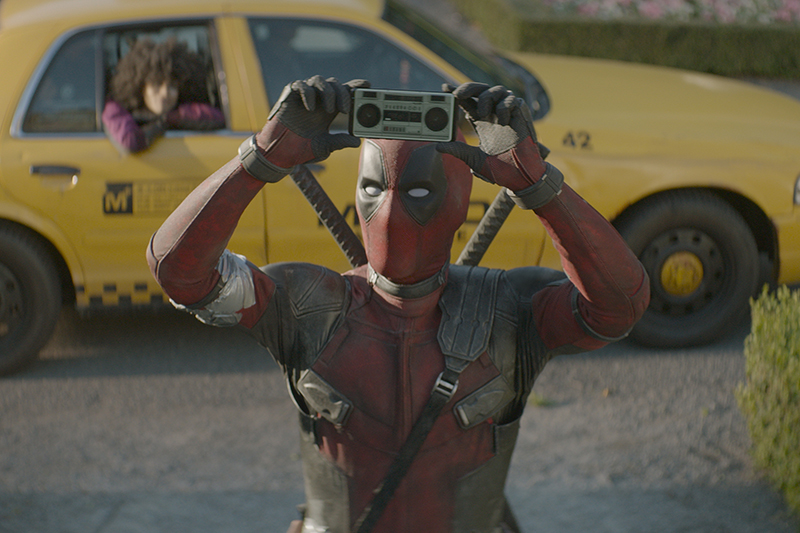 Ryan Renyolds as Wade Wilson/Deadpool and Zazie Beetz as Domino in Deadpool 2 (20th Century Fox, HF)