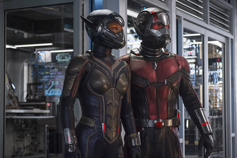 Evangeline Lilly and Paul Rudd as The Wasp/Hope van Dyne and Ant-Man/Scott Lang (Marvel, HF)