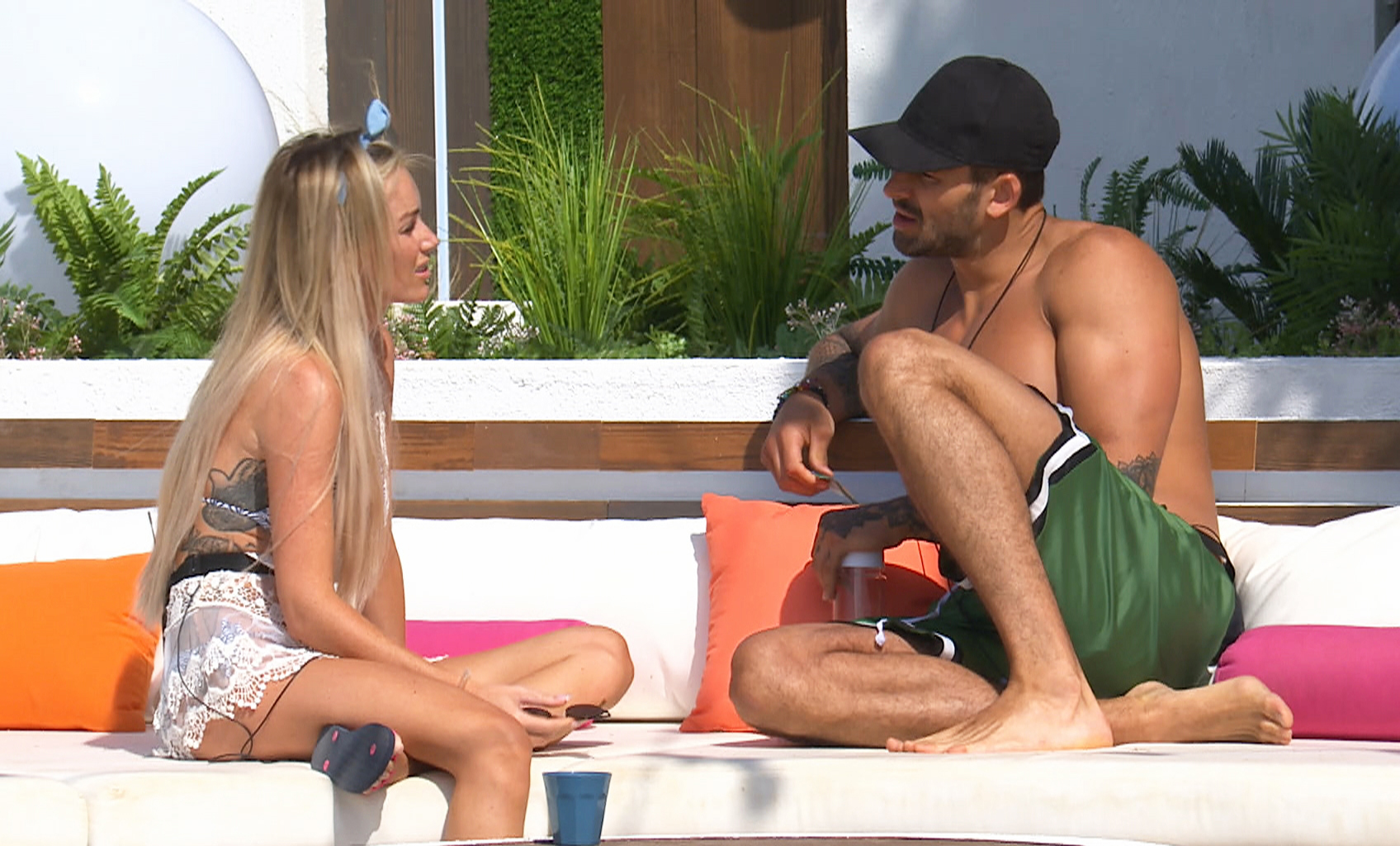 Laura Anderson and Adam Collard on Love Island
