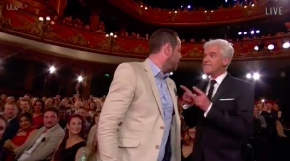 Danny Dyer and Phillip Schofield at the British Soap Awards