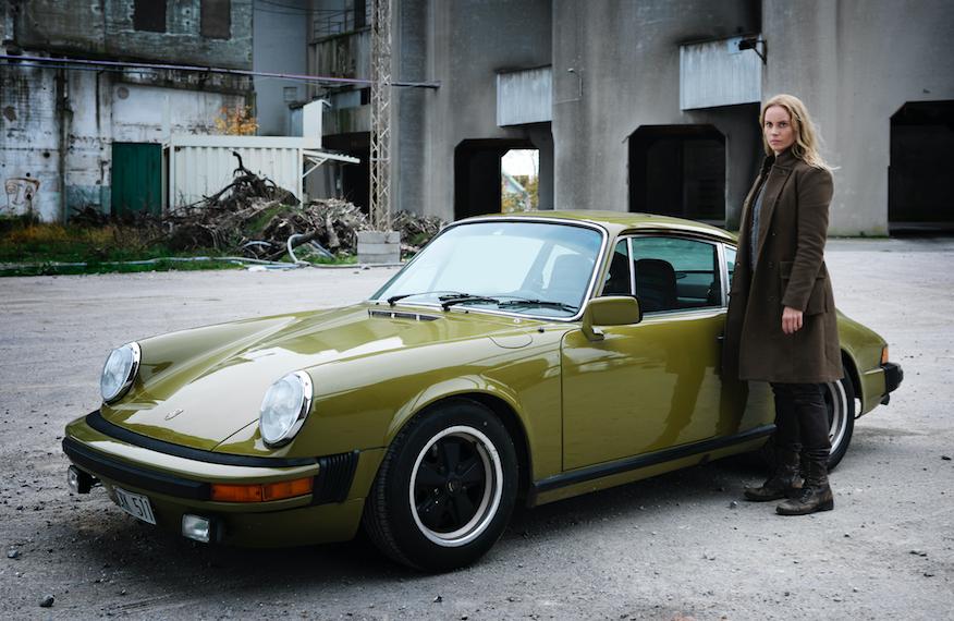 Saga's Porsche in The Bridge