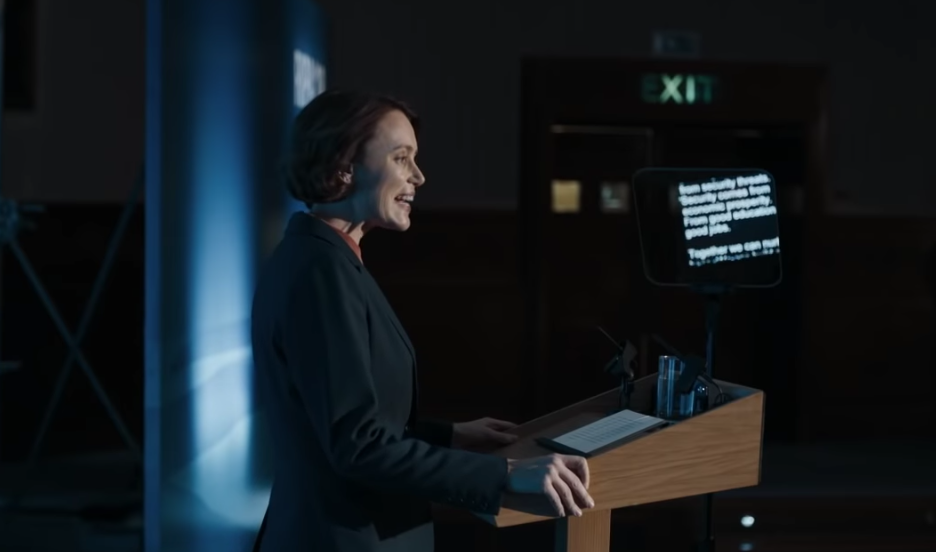 Keeley Hawes, Bodyguard (BBC1 trailer screenshot, EH)