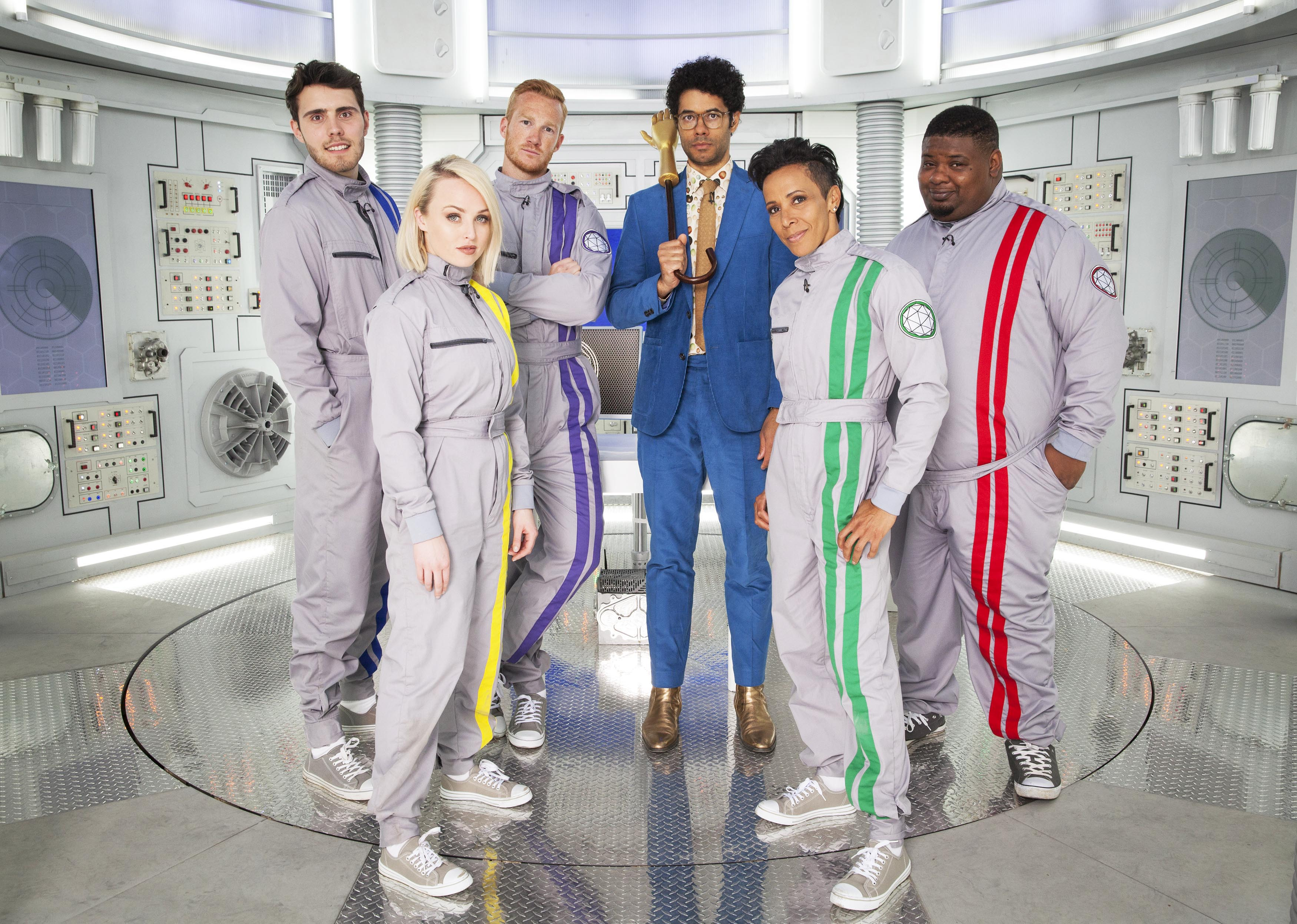 The Crystal Maze: Celebrity Episode 1 - Dame Kelly Holmes, MC Big Narstie, actress Jorgie Porter, internet superstar Alfie Deyes and long jumper Greg Rutherford Image - CHANNEL 4