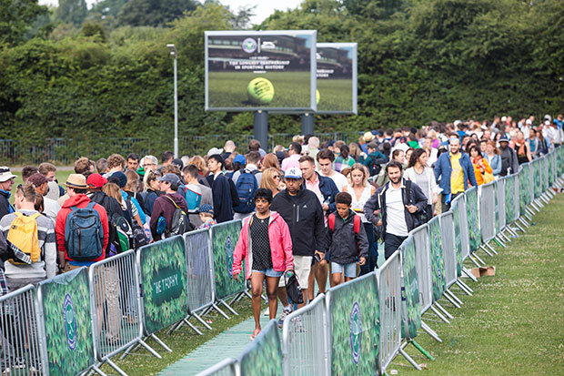 Wimbledon queue, Getty, SL
