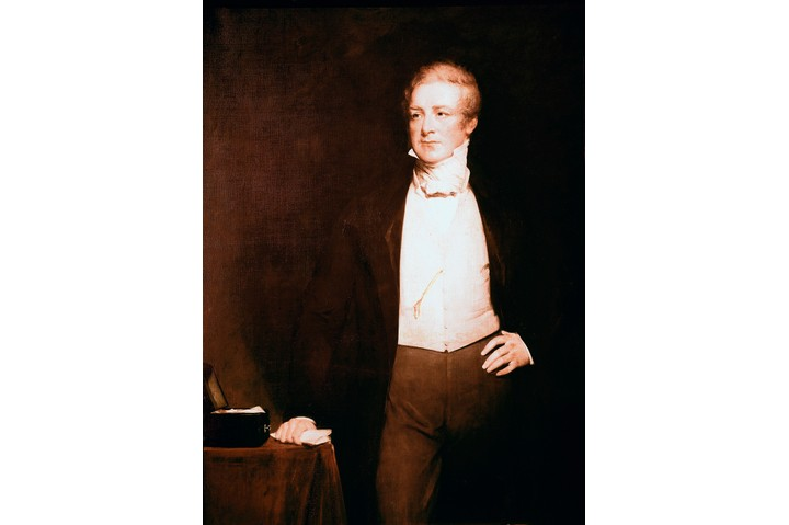 Portrait of Sir Robert Peel 1788-1850, by English painter Henry William Pickersgill 1782-1875. Oil on canvas, 240.7 x 147 cm, 19th century. National Portrait Gallery, London UK. (Photo by: Leemage/UIG via Getty Images)