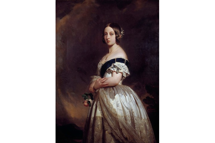 Portrait of Victoria I , Queen of England (1819-1901). Painting by Xavier Winterhalter (1806-1873) 1842. 1,32 x 0,97. Castle Museum, Versailles, France (Photo by Leemage/Corbis via Getty Images)