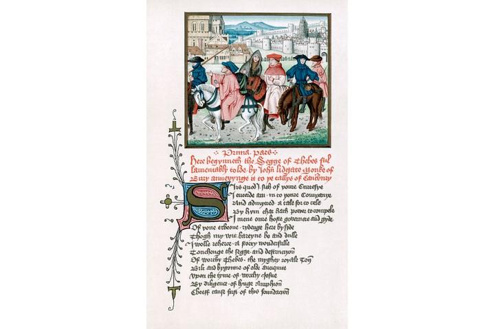 Canterbury pilgrims, c1420 (19th century).