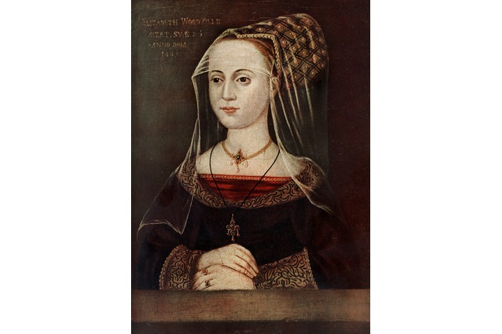 Pragmatist or heartless? A portrait of the young Elizabeth Woodville (1437-1492). The Print Collector/Print Collector/Getty Images)