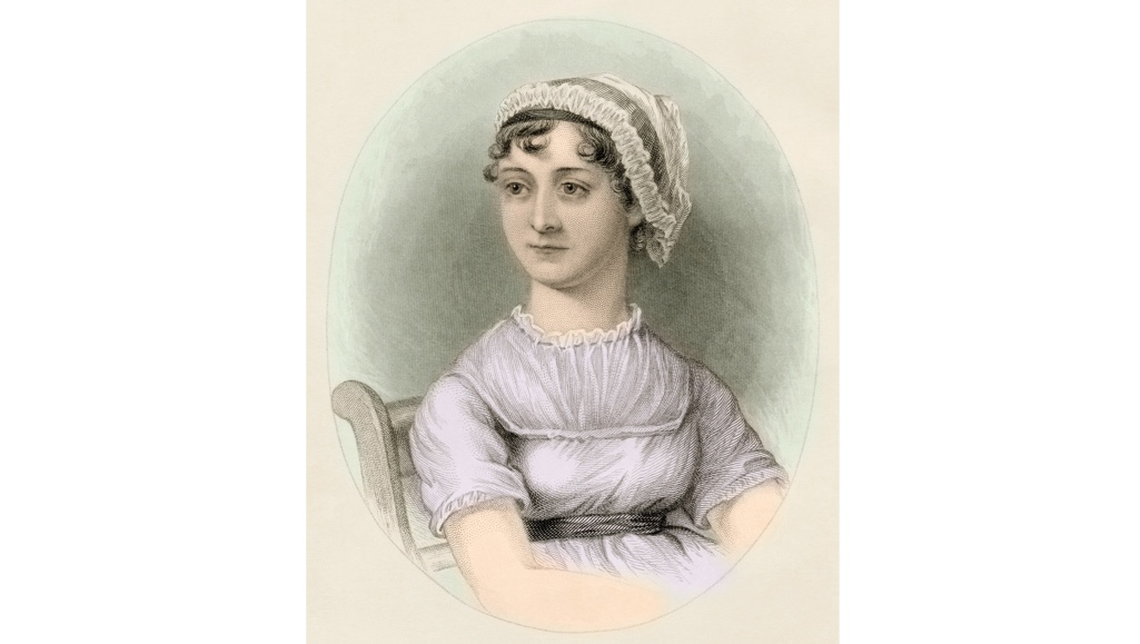 A portrait of Jane Austen.