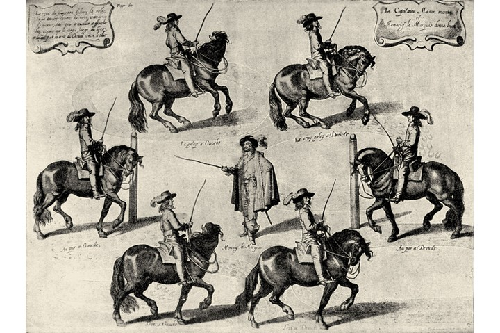 'Méthode et Invention nouvelle de dresser les chevaux' (A New Invention and Technique for the Training of Horses), by William Cavendish, Earl of Newcastle.  English author and playwright, known for his romantic comedies in verse, 1592 - 1674.  (Photo by Culture Club/Getty Images)