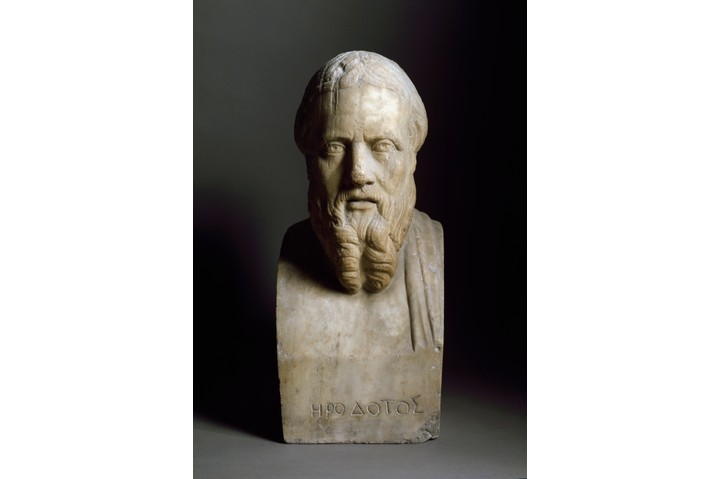 """Bust of Herodotus. """"Herodotus gives us access to someone's speech, their opinion, 2,500 years ago,"""" says Tom Holland. (Leemage/Corbis via Getty Images)"""
