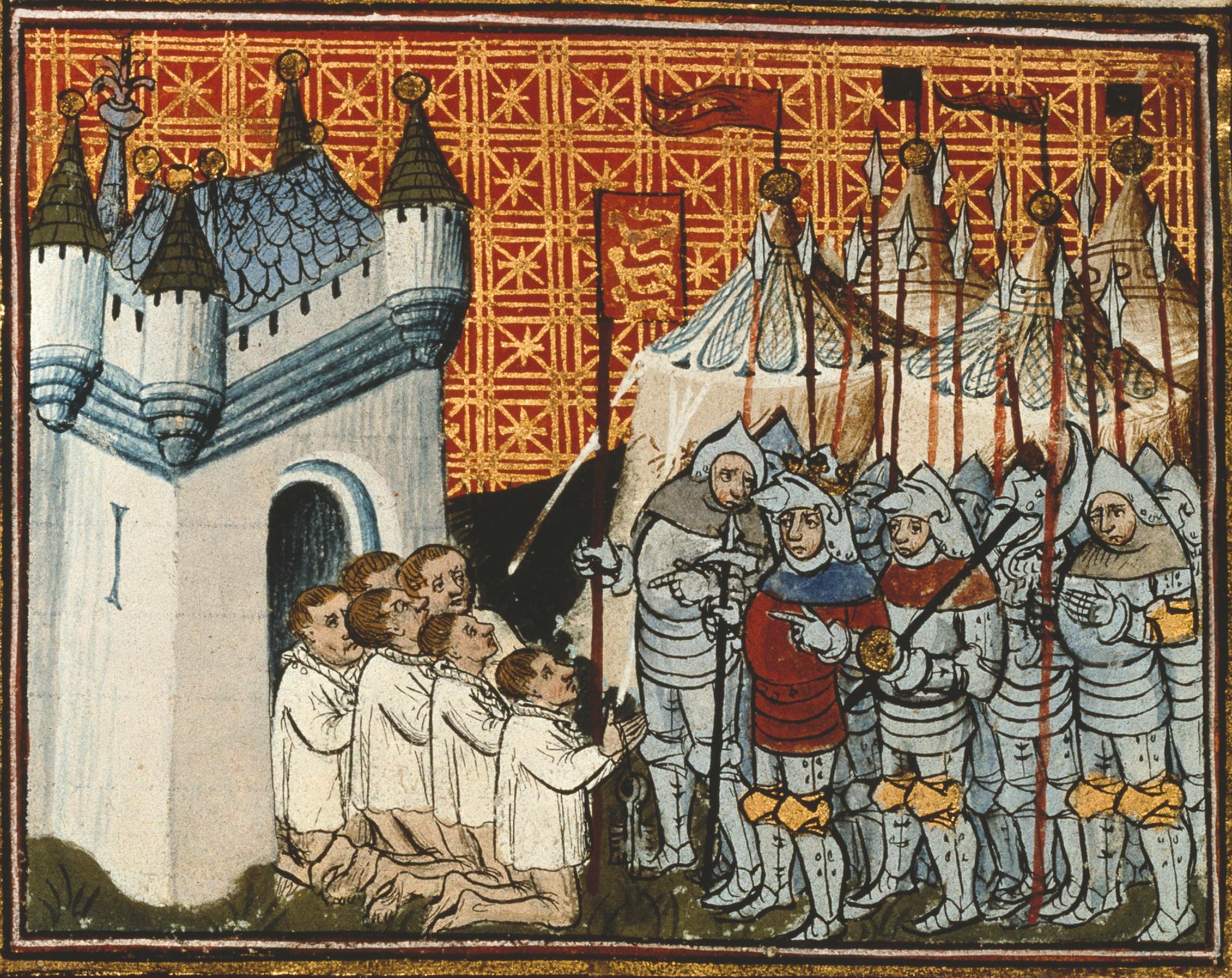 Calais surrenders to Edward III