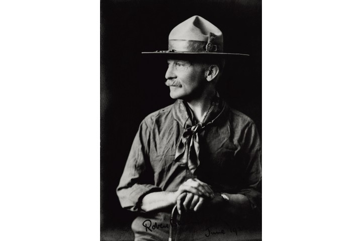 """Robert Baden-Powell in the 1920s. """"He was relentlessly positive – with phrases like 'kick the """"im"""" out of the word impossible,"""" says Bear Grylls. (Photo by Mondadori Portfolio via Getty Images)"""