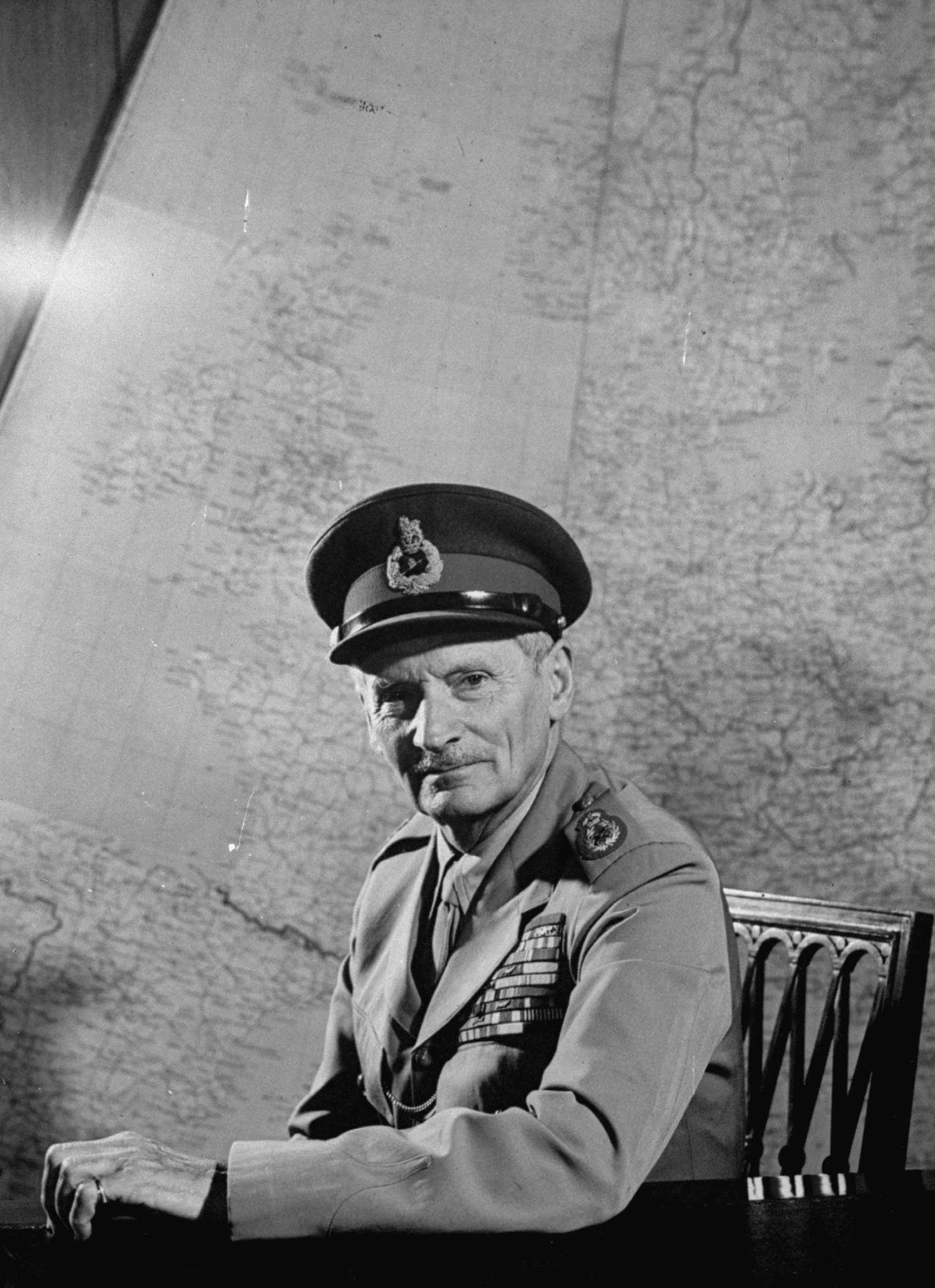 """""""Nobody could have held their nerve in Normandy like Monty did,"""" says Al Murray of the wartime general. (Photo by Mark Kauffman/The LIFE Picture Collection/Getty Images)"""