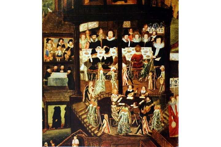 Painting depicting a 16th Century Wedding Feast in the residence of Sir Henry Unton (1557-1596) an Elizabethan English diplomat. Dated 16th Century. (Photo by: Universal History Archive/UIG via Getty Images)