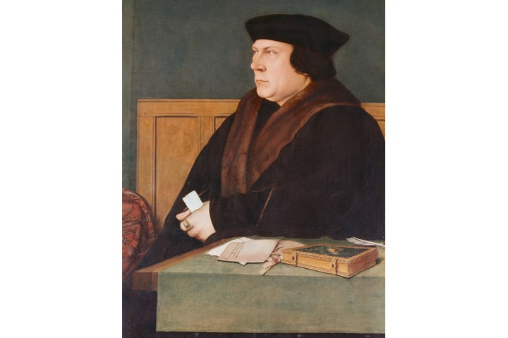 THOMAS CROMWELL, EARL OF ESSEX 1485-1540. ENGLISH POLITICIAN. ENTERED SERVICE OF HENRY VIII 1530, ALIENATED HENRY VIII BY NEGOTIATING MARRIAGE WITH ANNE OF CLEVES. ACCUSED OF TREASON BY NORFOLK, BEHEADED. (LONDON, NAT. PORTRAIT GALLERY) (Photo by �� Gustavo Tomsich/CORBIS/Corbis via Getty Images)