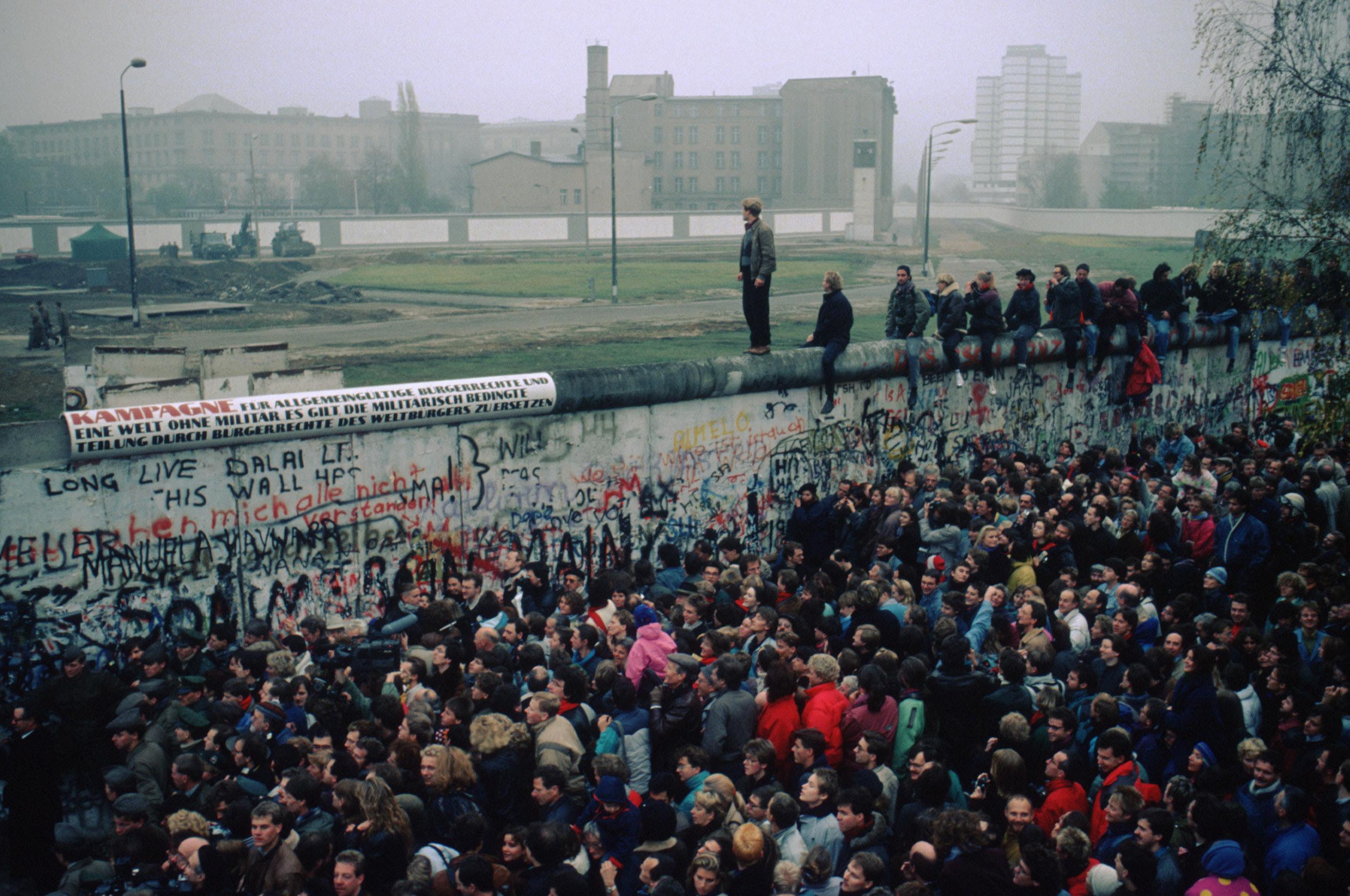 Berlin Wall in November 1989