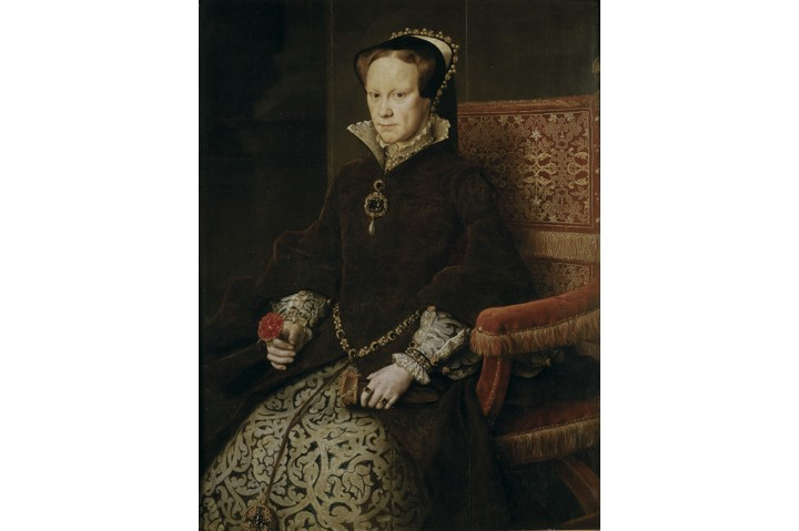 Portrait of Mary I of England, 1554. Artist: Mor, Antonis (Anthonis) (c. 1517-1577)