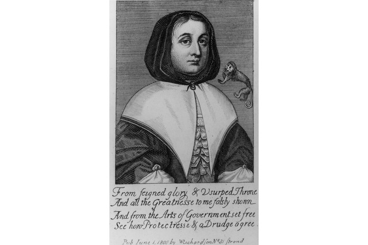 Circa 1630, Elizabeth Cromwell, nee Bourchier, the wife of English general and statesman Oliver Cromwell. Original Artwork: An engraving published in 1800 by W Richardson. (Photo by Hulton Archive/Getty Images)
