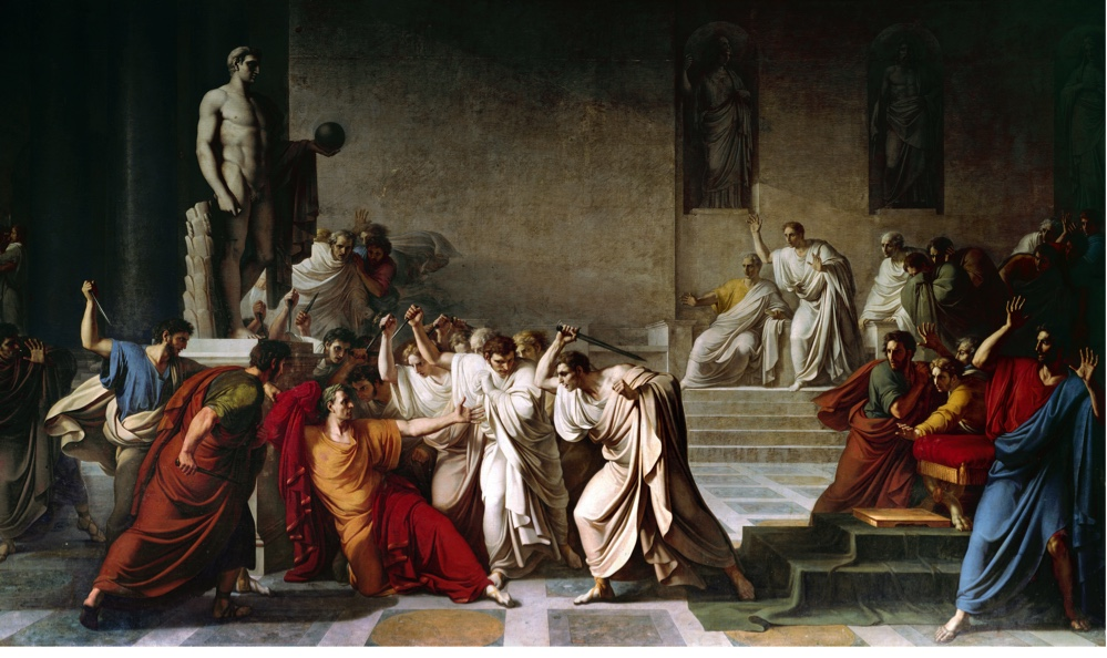 Image result for Ancient Roman death of caesar