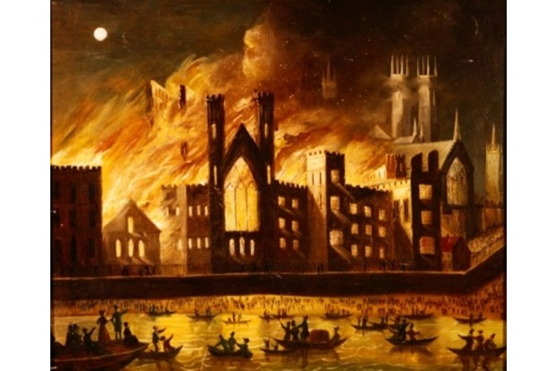 The Palace of Westminster on Fire, 1834