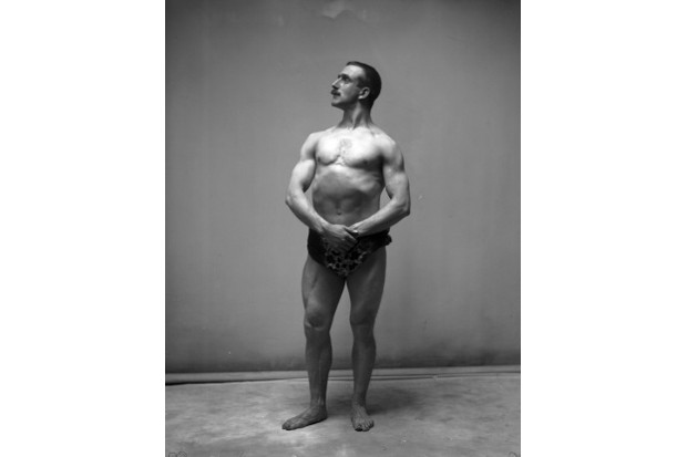 c1905: winner of the Sandow bodybuilding competition