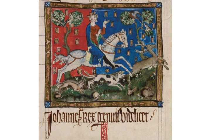 King John hunting on horseback, 14th century. Found in the collection of British Library. Artist :  Anonymous. (Photo by Fine Art Images/Heritage Images/Getty Images)