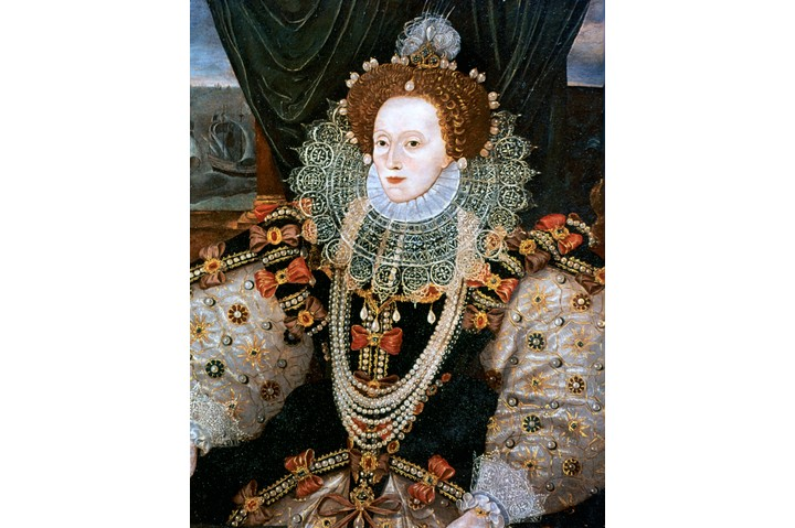A portrait of Elizabeth I.