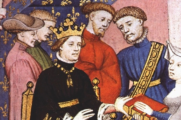 Charles VI of France (1380–1422) and his court. Charles sealed a treaty with Owain Glyndˆwr in July 1404, sending troops to help the Welsh cause. However, despite marching through south Wales, Charles's troops headed home without engaging the English in a major battle. (© Getty)